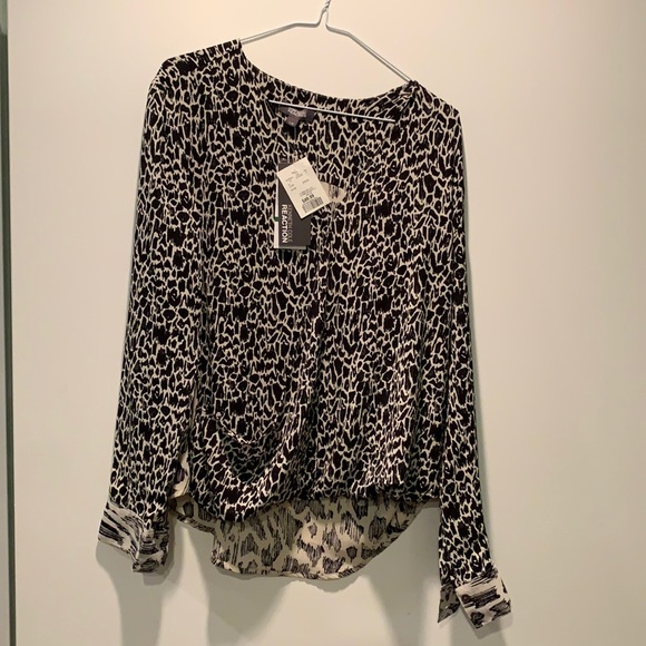 Kenneth Cole Reaction Animal Print Blouse
